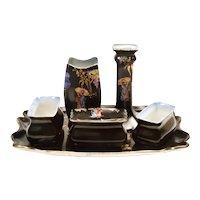 Rubian Black Dresser set