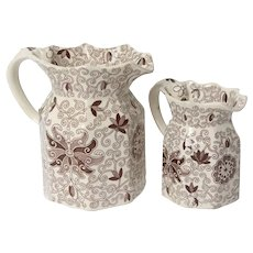 Mason's Brown and White Pitchers