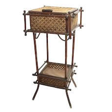 Bamboo Sewing Basket 19th Century English