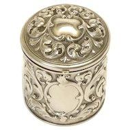 Silver Vanity Jar