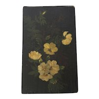 Painting of flowers on Wood