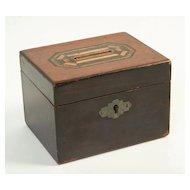 Wooden Money Box, Circa 1890