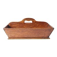 Large Oak bakers basket -English