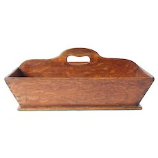 Large Oak bakers basket -English