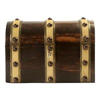 Wooden Money Box with Lock Circa 1865