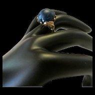 Lapis Lazuli Fourteen Karat Gold Ring