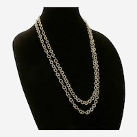 Rope Length 14K Yellow Gold Link Necklace
