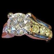 1.55 Carat Diamond Solitaire Ring in 14 Karat Gold