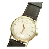 14Kt Gold Hamilton 730 Model 17 Jewel Men's Wristwatch