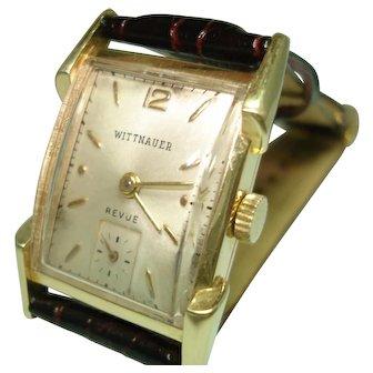 14Kt Gold Men's Wittnauer Vintage Mechanical Wristwatch Professionally Serviced