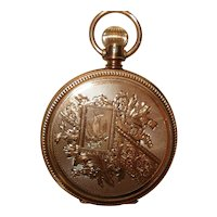 1885 Circa 14Kt Gold Huntcase 8 Size Elgin Lever Set Pocket Watch