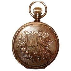 1885 Circa 14Kt Gold Huntcase 8 Size Elgin Lever Set Pocket Watch
