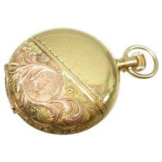 1887 Waltham  18 KT Gold Hunt Case Ladies O Size  Pocket Watch Serviced