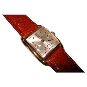 1946 Jubilee Diamond Dial 14kt Solid Gold Longines Men's Wristwatch Serviced