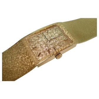 1967 Omega 14kt Gold Mens Bracelet Wristwatch Mechanical 17 Jewel
