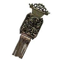 Vintage Ornate Music Box Pin Brooch Switzerland Breitler