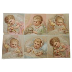 Victorian Scraps Babies At Play c1900
