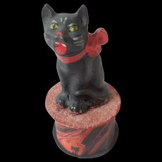 Halloween Cat Candy Container c1930