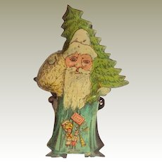 Lithographed Santa Candle Clip For Christmas Tree c1910