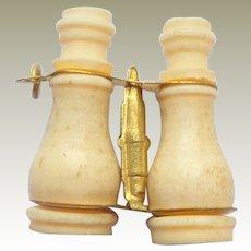 French BONE Binoculars Stanhope /Peep Miniature Size c1900