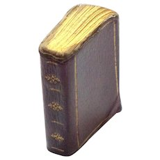 Miniature Book Burgundy & Gilt Cover 1830's