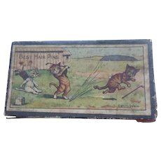 *Reserved for T*Louis Wain Best Hair Pins Box c1915 - Red Tag Sale Item