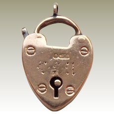 Victorian 9kt Gold Heart Padlock