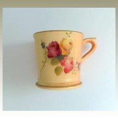 Miniature Blush Ivory Worcester Mug 1909