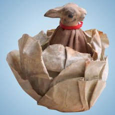 Novelty Rabbit In Cabbage Surprise Toy c1890