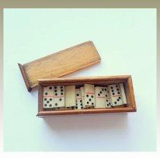 Tiny Dominoes In Box c1915