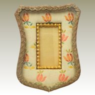 Small French Fabric Picture Frame c1910