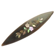 *Reserved* Inlaid Tatting Shuttle Mother Of Pearl c1870