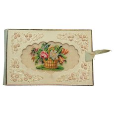 Petit Point Embossed Paper Book c1840