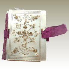 Mother Of Pearl Needlebook c1860