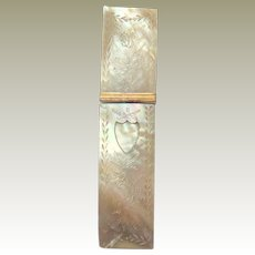 Mother Of Pearl Engraved Needlecase c1820