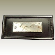 Aiguilles Tiny French Box For Needles c1820