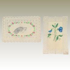 Miniature Paintings On Bristol Card c1860