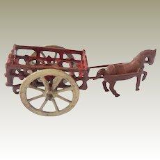 Tiny Simon & Rivollet Horse Cart c1915