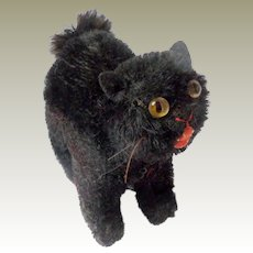 Unusual Small Black Cat c1930