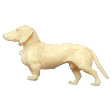 *reserved*Tiny Dieppe Daschund For Dolls House