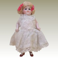 Chunky German All Bisque Doll c1915