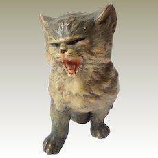 Meowing Cat Figure c1906