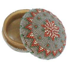 Beadwork Box For Pins c1860