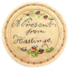 Handpainted Georgian Pinwheel Present From Hastings c1820