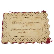 Interesting Punched Paper Sleeve c1840
