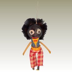 Quirky Golly Puppet Fur Hair c1930