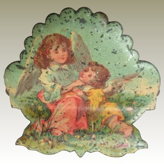 Lithographed Angel Candle Clip For Christmas Tree c1910