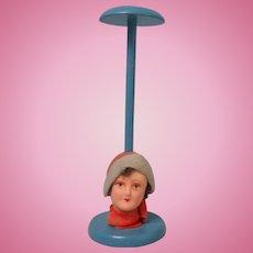 Art Deco Dolls Head Hat Stand c1930