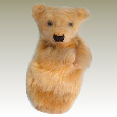 Farnell Teddy Bear Puppet With Label 1930's