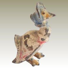 Antique Cold Painted Bronze Jemima Puddle-Duck Beatrix Potter
